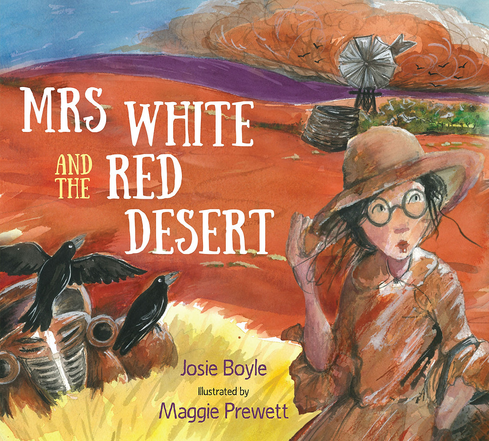 Indigenous Book Mrs White & the Red Desert, Author Josie Boyle. Tea&Belle Indigenous Book Club week 2