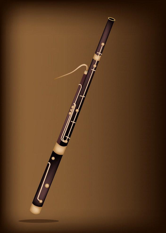 a-classical-bassoon-on-dark-brown-backgr