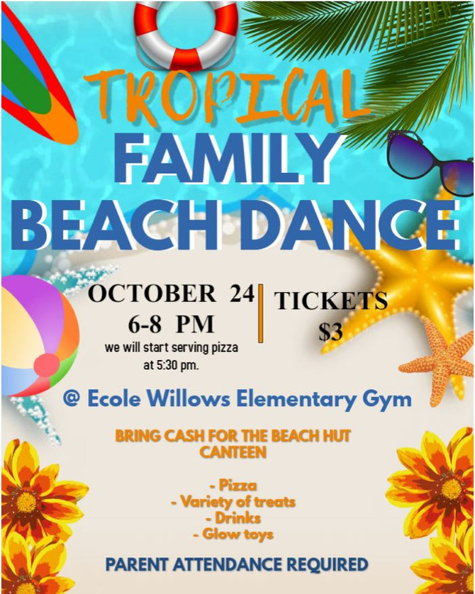 Willows Family Dance - October 24