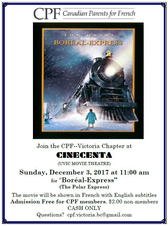 "CPF Movie ""Boréal Express"" Dec 3"