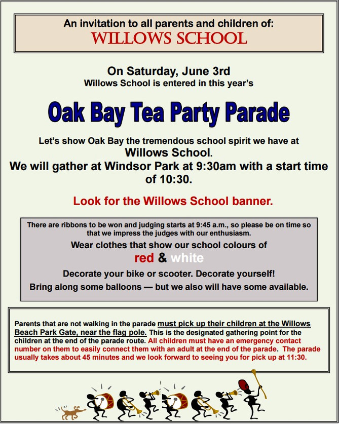 Join the Willows Parade!