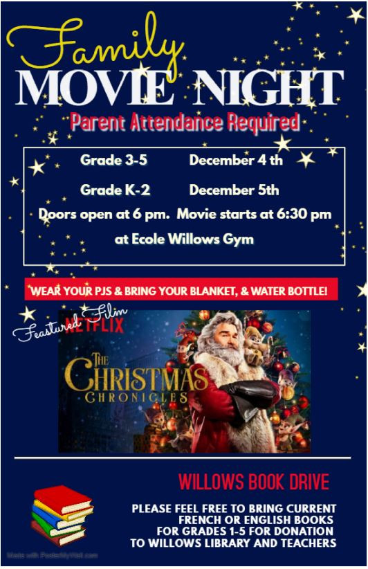 Movie Nights Dec 4 and 5