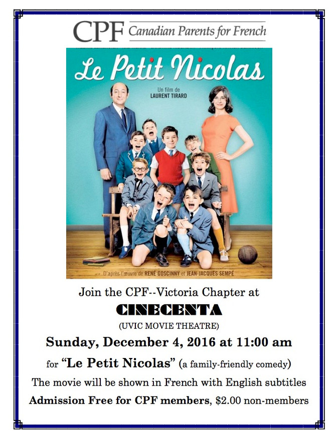 French Immersion family movie matinée