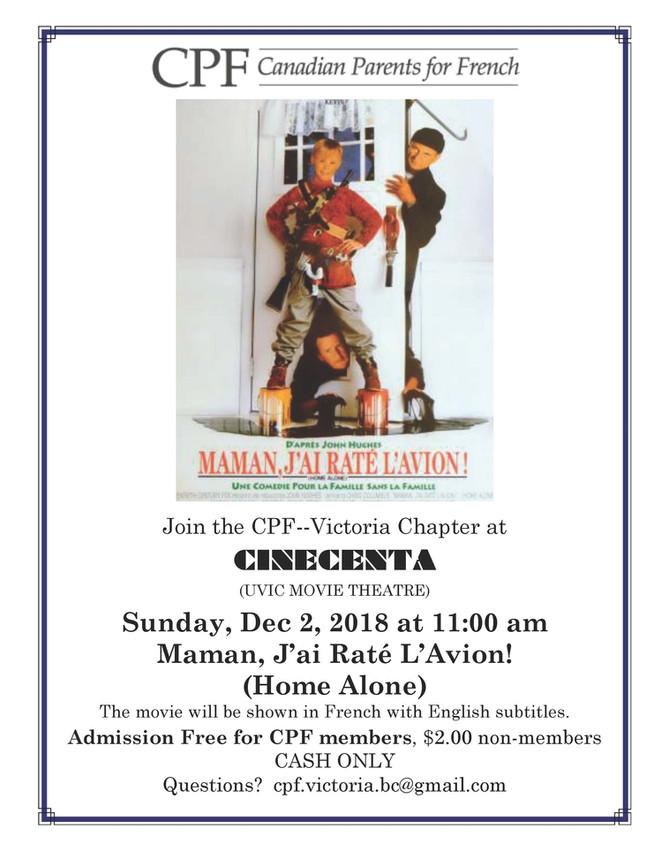 CPF Movie 'Home Alone' Sun Dec 2 11am