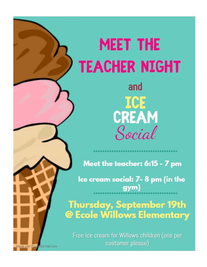 Meet the Teacher & Ice Cream Social