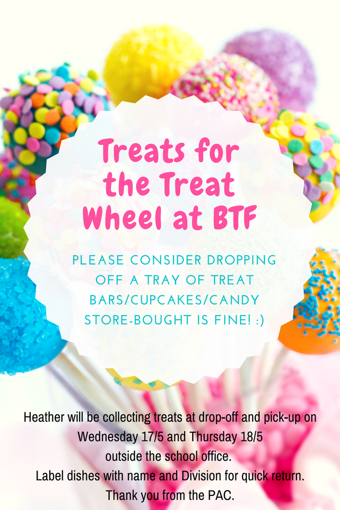 Baked treats needed for Blossom Tree Festival please!