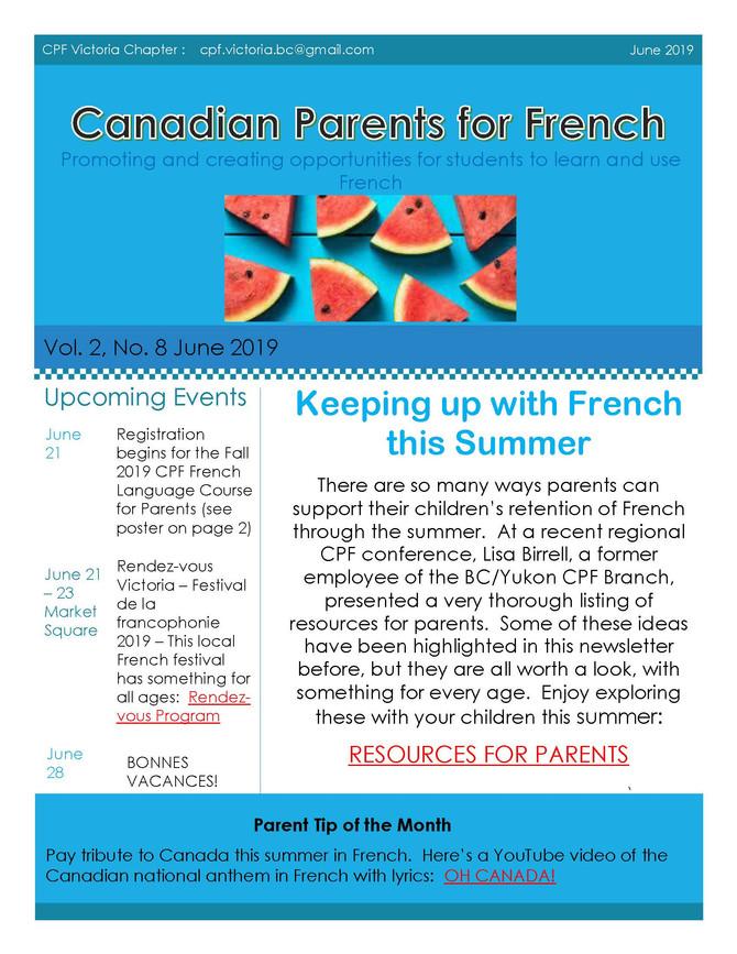 CPF Victoria Newsletter June 2019