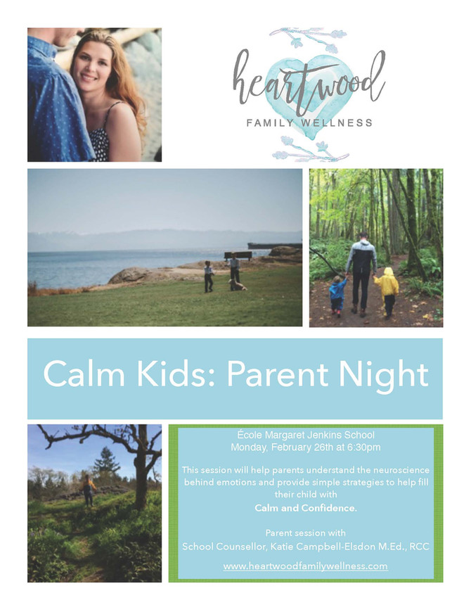 You are invited to Calm Kids: Parent Night at EMJS on Feb 26 at 6:30pm