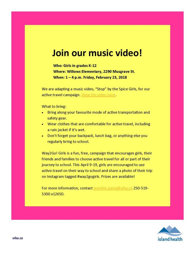 Way2Go! Girls music video