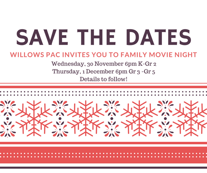 Family Movie Night Dates Confirmed!