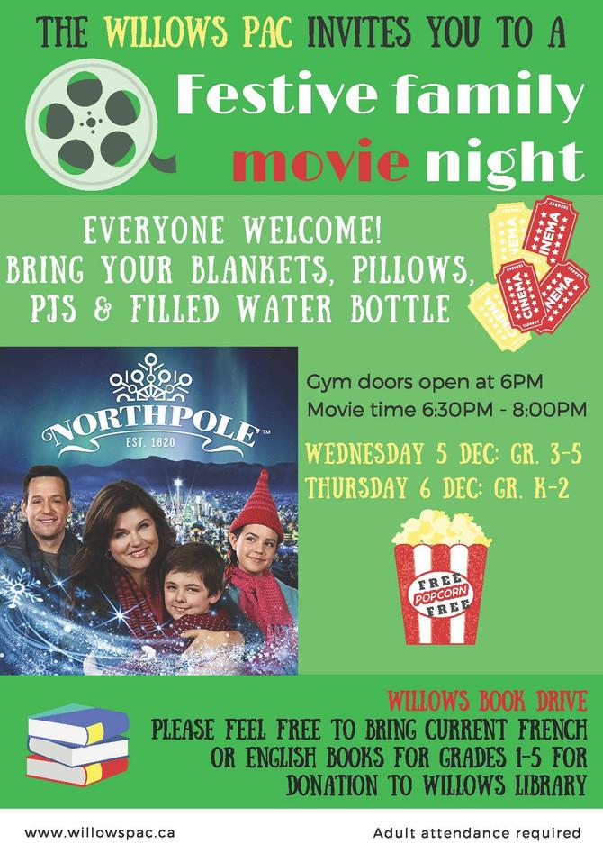 Family Movie Night Dec 5 & 6