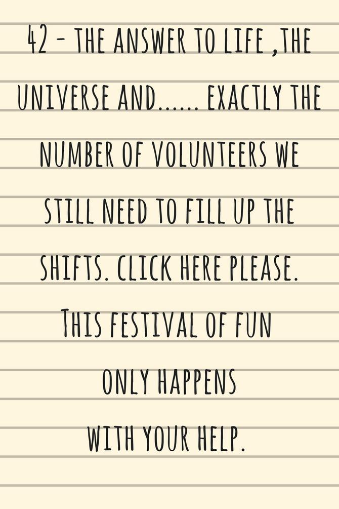 Be a hero and volunteer