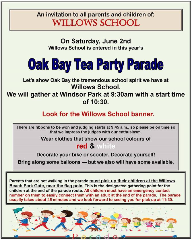 Tea Party Parade Info