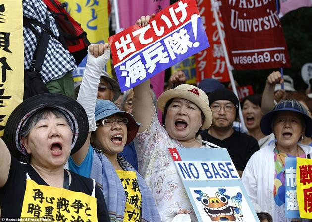 okinawa pic more female protests