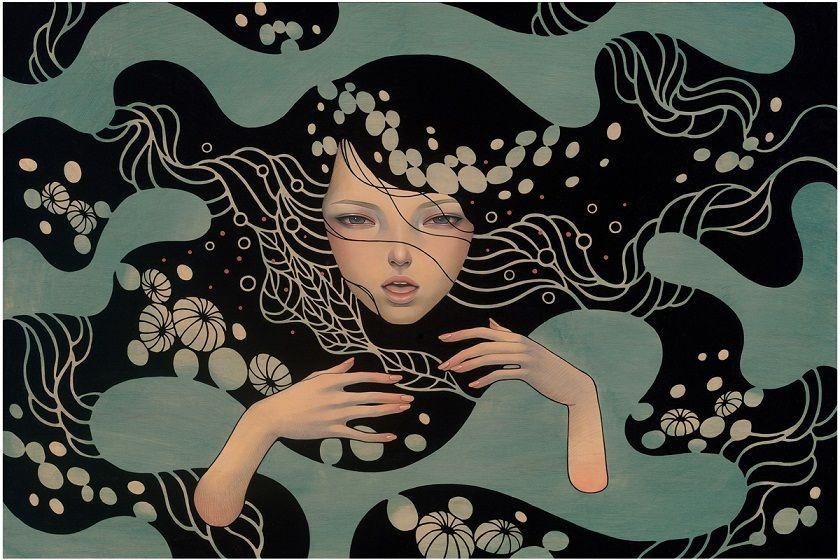 """Cover photo: """"Deep Waters"""" by Audrey Kawasaki"""