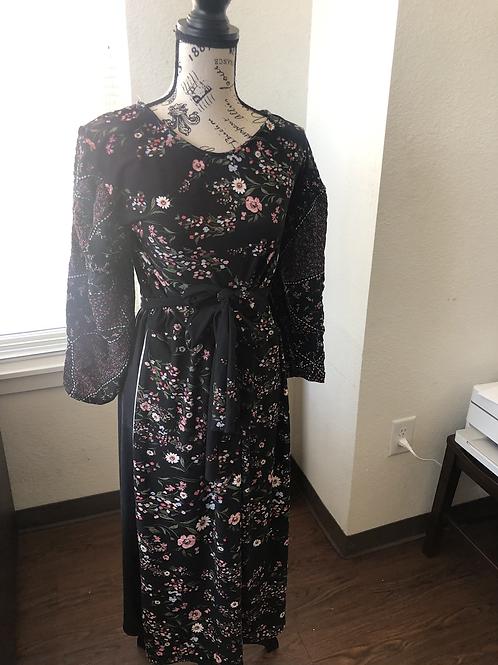 Flower Boy Double Tie Maxi Dress