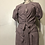 Thumbnail: Double Tie Botanical Ruched  Dress
