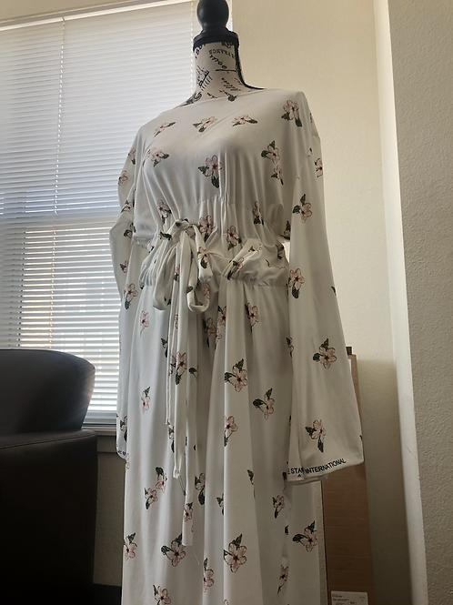 Flower Midriff Maxi Dress