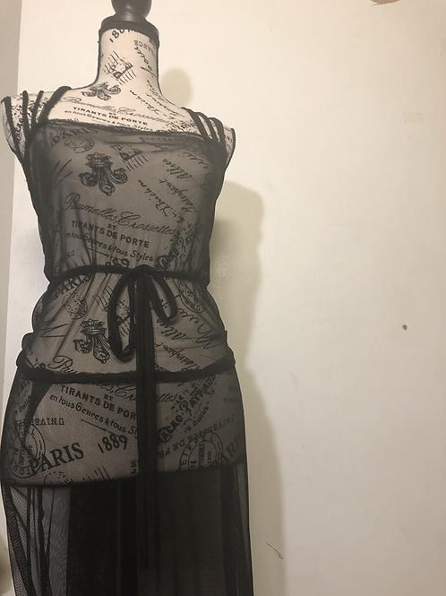 Triple Strap Sheer Dress