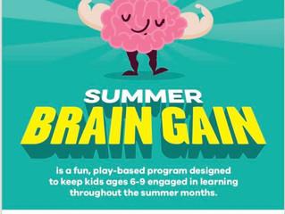 Summer Brain Gain (sponsored by HBC Foundation)