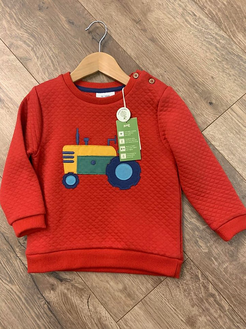 Kite Boys Red Tractor Jumper