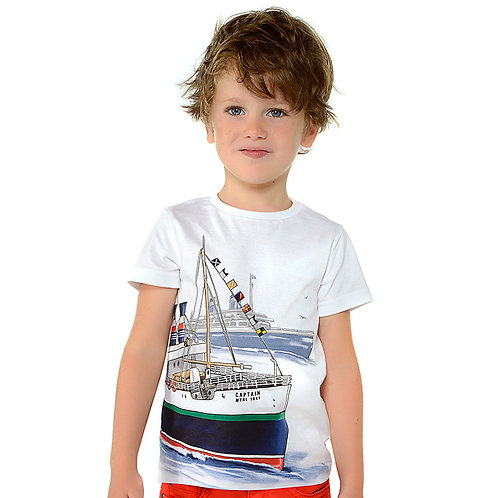 Mayoral Short sleeved boats t-shirt for boy