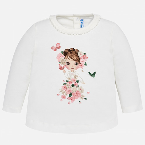 53a6cd025 MAYORAL Long Sleeved Print T-shirt For Baby Girl