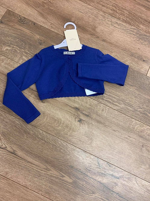 Mayoral Blue Bolero Cardigan