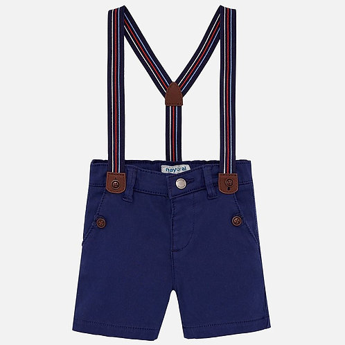 Mayoral Bermuda shorts with braces for baby boy
