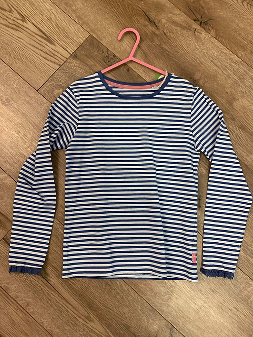 Kite Blue and White Striped Long Sleeved Top
