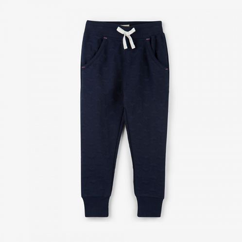 Hatley Navy Hearts Quilted Joggers