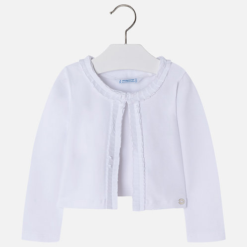 Mayoral Jersey cardigan with pleats for girl