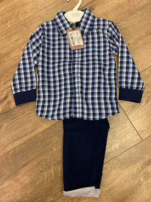 Lilly & Sid Check Shirt and Trousers Set