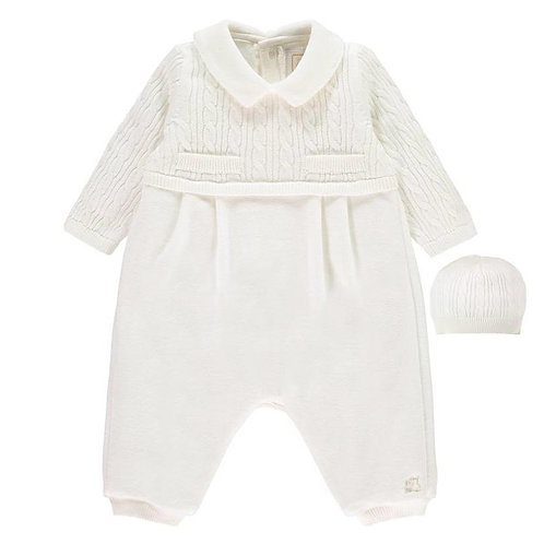 EMILE ET ROSE Neville Baby Boys Knit All in One & Hat