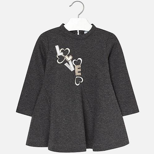 MAYORAL Dress With Metallic Polka Dots For Girl