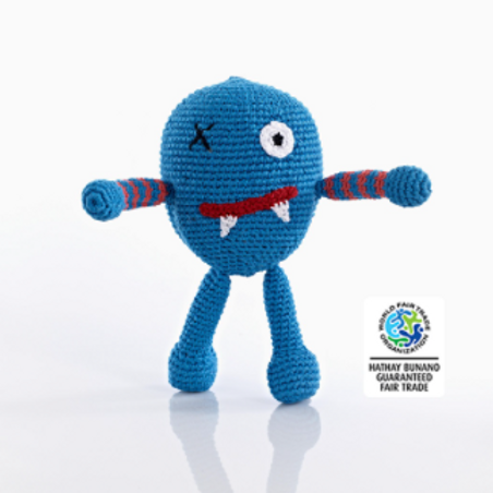 CHUBBY MONSTER BABY TOYS, SCARY BLUE