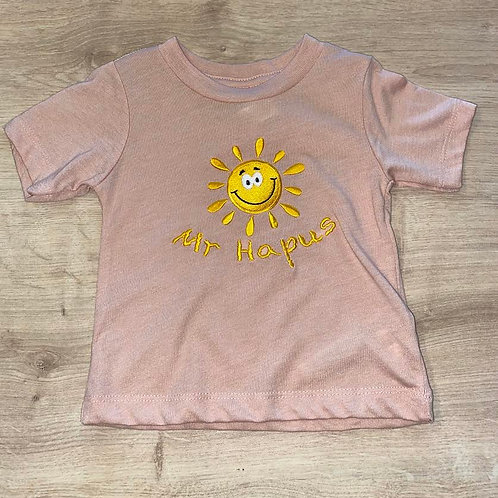 Pink 'Mr Hapus' Embroidered T-Shirt