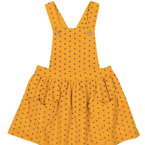 KITE Girls Polka Heart Pinafore Dress