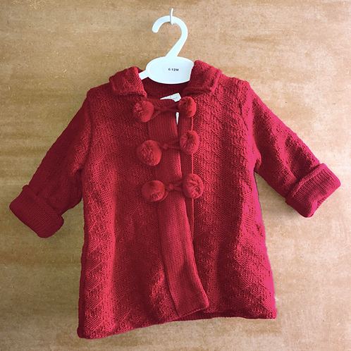Baby Girl Red Coat and Hat Set
