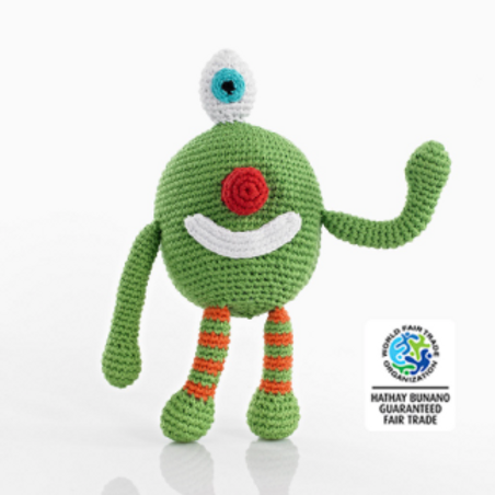CHUBBY MONSTER BABY TOYS, CHEEKY GREEN