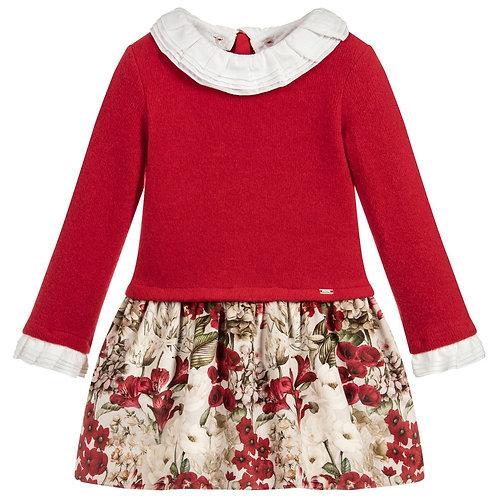 MAYORAL Girls Red Long Sleeve Dress