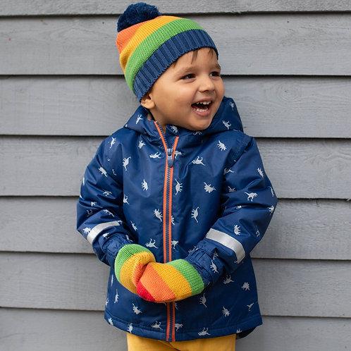 Kite Rainbow Bobble Hat and Mitts Set