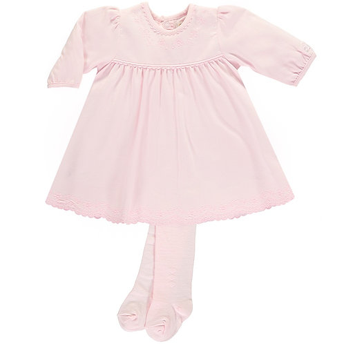 Emile et Rose PRETTY BABY GIRLS DRESS WITH TIGHTS