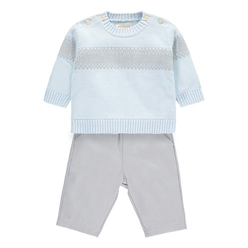 EMILE ET ROSE Nesbit Blue Boys Jumper and Trouser Set