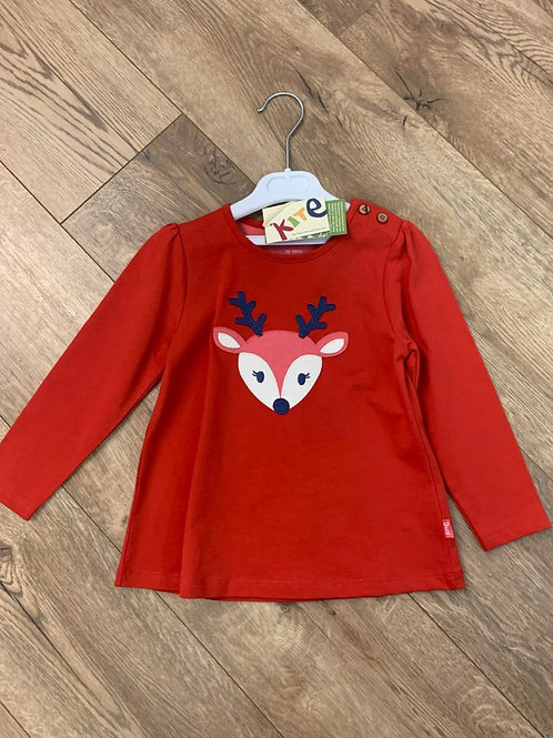 Kite Red Reindeer Long Sleeved Top