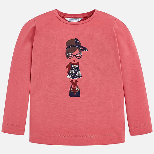 MAYORAL Long Sleeved Printed T-shirt For Girl