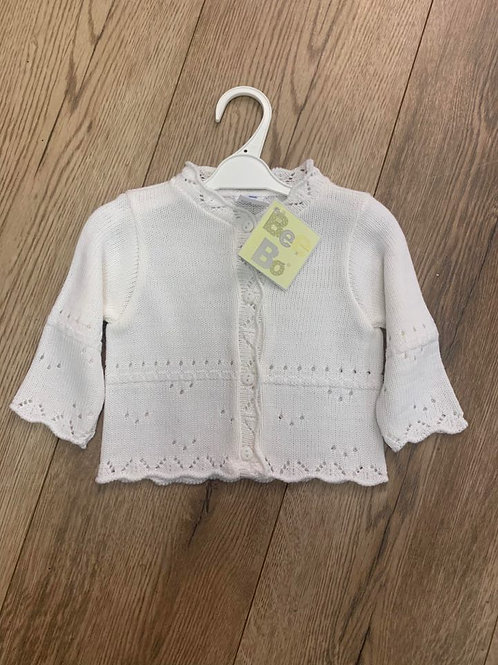 Bee Bo White Cardigan