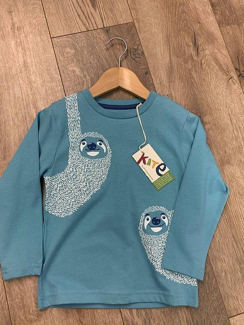 Kite Boys Blue Long Sleeved Sloth T-Shirt