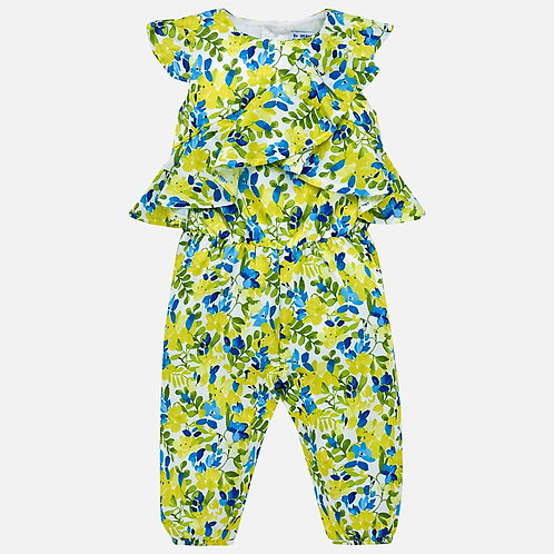 Mayoral Patterned jumpsuit for baby girl