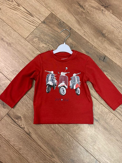 Mayoral Red Long Sleeved Top